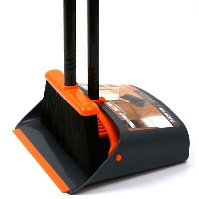Dust Pan and Broom/Dustpan Cleans Broom Combo with A Orange Dustpan