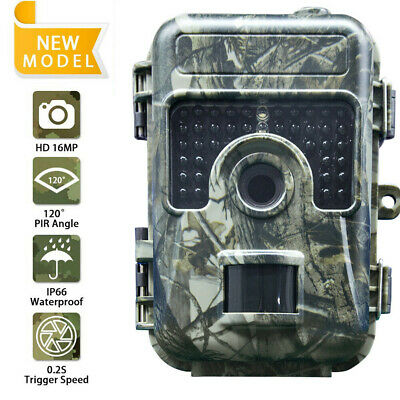 Hunting Trail Camera 1080P 16MP Wildlife Scouting Cam IR Night Vision IP66 20M A