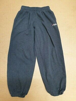 Bb817 Boys Fila Grey Cotton Casual Joggers Tracksuit Bottoms Mb Medium W24-26