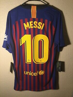 buy popular f5655 7405a NIKE FC BARCELONA Authentic Player Jersey Large ($195) Messi #10 Large