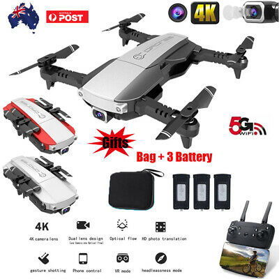 Drone x pro 5G Selfie WIFI FPV With 4K HD Dual Camera Foldable RC Quadcopter AU