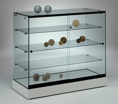 ALL GLASS RETAIL SHOP COUNTER JEWELLERY GLASS DISPLAY SHOWCASES. CABINET 90w cm