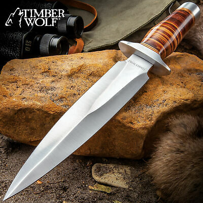 """TIMBER Wolf 13"""" Overall Stainless Steel Fixed Blade Combat dagger with Sheath"""