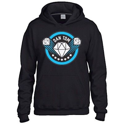 Dan Tdm Diamond Kids Black Hoodie Gaming Gamer Youtuber Fan Size 12-13 XL SALE!!