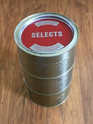 Set Of 3 Vintage Oyster Tin Can Half Gallon Madison Seafood Co. Maryland MD