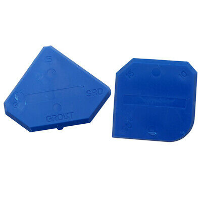 Set of 2 Caulking Tool Kit Blue Joint Sealant Grout Scraper Recyclable