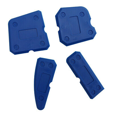 Set of 4 Caulking Tool Kit Blue Joint Sealant Grout Scraper Recyclable