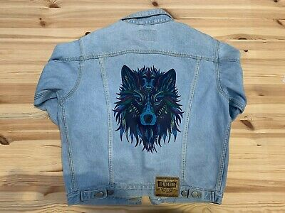 Wholesale customised denim jackets x 5, Embroidered and Printed