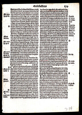 Book of Ecclesiasticus 31-50 1519 Latin Bible Consecutive Leaf Lot (3)