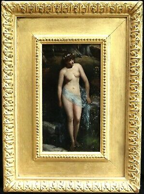 John Anster Fitzgerald (1832-1906) Signed English Oil Pre Raphaelite Nymph Woods