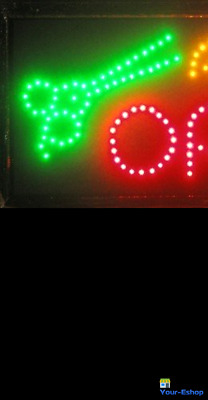 H001 ANIMATED HAIR Beauty Salon LED Open Sign Neon Spa Nails Store