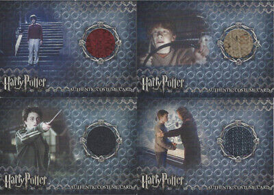 San Diego Comic Con 2008 Harry Potter 4 CARD COSTUME Set SD08-C1 - SD08-C4