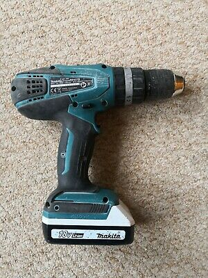 Makita Drill HP457D + 1 BL1813G battery (hand button is missing, no charger)