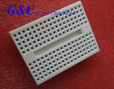 2pcs White Solderless Prototype Breadboard 170 SYB-170 Tie-points for Arduino
