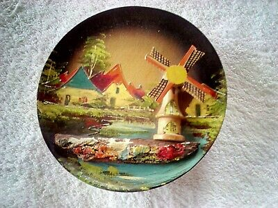 Enchanted / Haunted Musical Wooden Hanging Scene From Germany