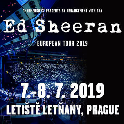4 Ed Sheeran Tickets to sell for Prague on July 7th, 2019