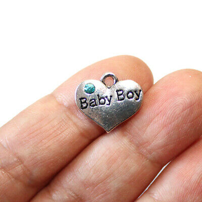 SC2182 4 Boy Girl Charms Antique Silver Tone 2 Sided Children