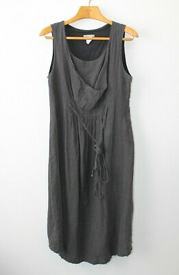 e89af195108b Sarah Pacini Grey 100% Linen Stone Wash Dress Made in Italy Layered Size 2 M