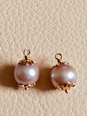 6a814714bbadf PANDORA 14CT PEARL & diamond compose earring charms. RETIRED ...