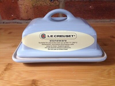 Le Creuset Stoneware, Butter Dish with Lid, Coastal Blue, BNWT, RRP £30