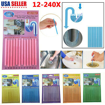 12-240Pack Soap Keep Drain Pipes Clean Bar Odor Free Cleaning Sticks Products US
