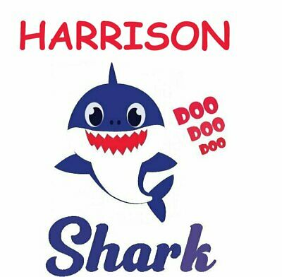 ::::::::::::::::::::::Baby Shark:::::persoanlzied:::t-Shirt Iron On Transfer