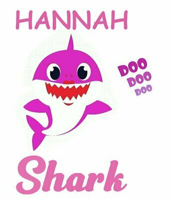 ::::::::::::::::::::::Baby Shark:::::personalzied:::t-Shirt Iron On Transfer