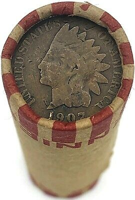 $ Vintage Indian Head Penny on Rare Wheat Cents Roll Antique Coins Estate Sale!!