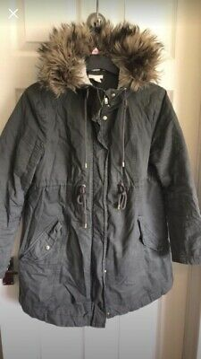 H&M MATERNITY COAT, KHAKI SIZE Medium