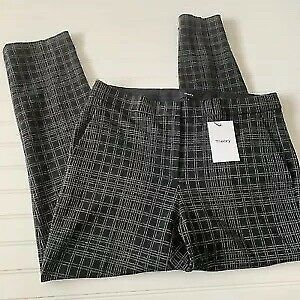 a4a31c7a6ba Theory Testra Stretch Wool Classic Crop Pant Size 10 Black and White  Checkered
