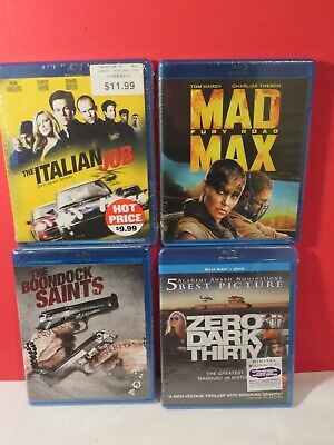 Wholesale BluRay DVD Lot of 4 - Used Blu Ray New Sealed