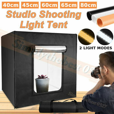 3 Type Portable LED Light Tent Backdrop Photo Studio Lighting Room Cube Soft Box