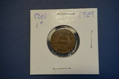 A-32 1929 Canada 1 Cent George V Canadian Penny Copper Coin RCM