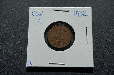 A-33 1932 Canada 1 Cent George V Canadian Penny Copper Coin RCM
