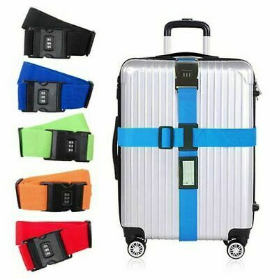NON-SLIP Luggage Suitcase TSA Combination Safe Lock Nylon Packing Strap Belt US