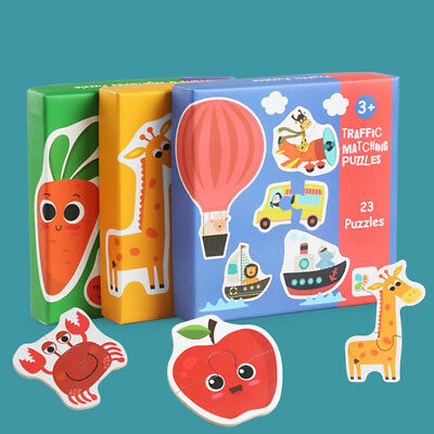 Wooden Puzzle Board Magnetic Figures Drawing Educational Learning Toys LJ
