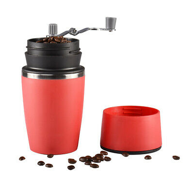 Portable Travel Coffee Maker On The Go  Camping Vacuum Mug Cup with Grinder Lid