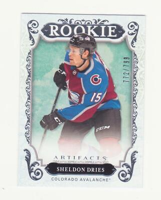 2018-19 UD Artifacts Sheldon Dries RC # 772/799 (18-19) # RED188