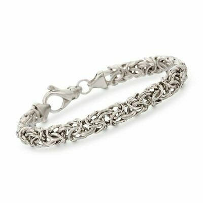 """Chain LinkTwisted  Bracelet  925 Sterling Silver 8"""""""