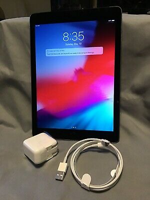 Apple iPad Air 2 64GB Wi-Fi Cellular Unlocked Space Gray Scratched Screen + Box