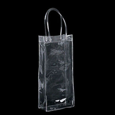 Clear Ice Bag Wine Bags Cooler Bottle Tote Carrier Champagne Holder Bar Tool Use