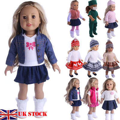 Outfit Dress Clothes for 18'' American Girl Our Generation My Life Doll UK STOCK