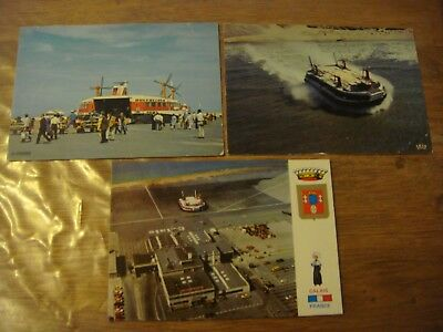 France - CALAIS - Lot de 3 cartes de l' Hovercraft Hoverport