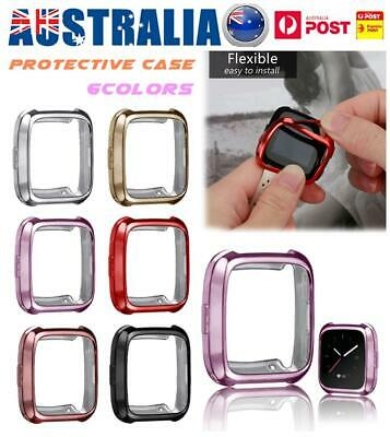 For Fitbit Versa Watch Silicone TPU Shell Case Screen Protector Frame Cover AU