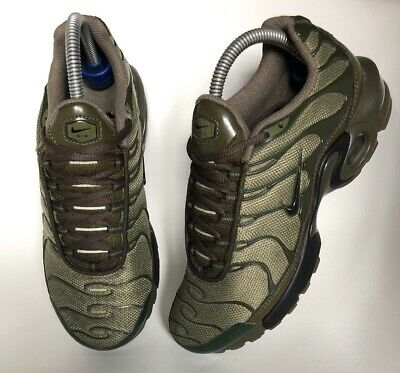 new style ab9c1 0a5bf Nike Air Max Plus Tuned 1 TN Olive Cargo Khaki Trainers Size UK 5.5 EUR