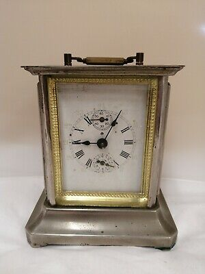 Interesting Mantel Clock - Made In Italy **Spares & Repairs** (D5)