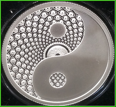 2019 1oz Cosmic Yin Yang Proof Silver Shield MiniMintage Conscientia #18