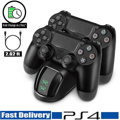 PS4 Dual Controller Fast Charger Charging Dock Station Stand Dualshock Gamepad