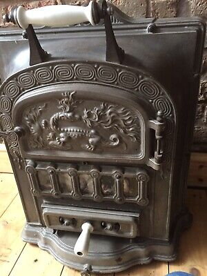 Antique Cast Iron Fire Grate Woodburner