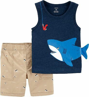 cc01df2655cd CARTERS BABY BOYS Shark Romper - $9.60 | PicClick